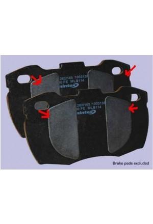 Anti-Quietsch-Pad Set vierteilig für Bremsklötze-1
