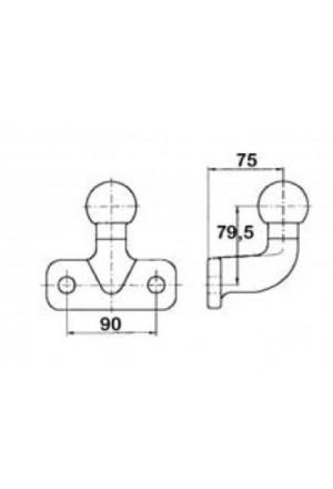 Kugelkopf Anhängekupplung mit Anschraubplatte-1