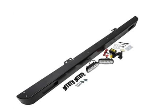 Stoßstange Defender schwarz mit integrierten LED Zusatzleuchten-1