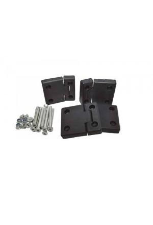 Türscharnier Satz Defender Seitentüren Aluminium schwarz eloxiert-1