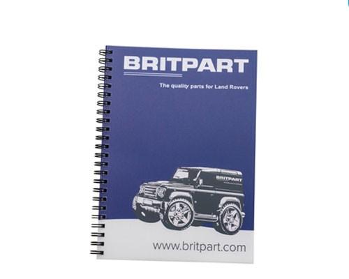 Britpart Spiralblock mit Defender Aufdruck in A5-1