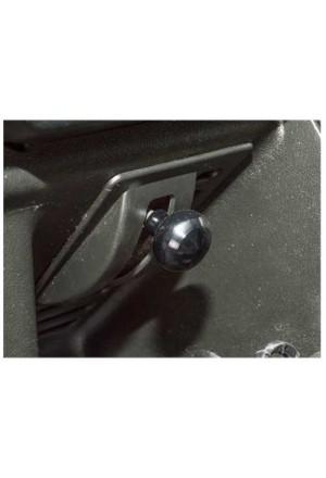 Knopf Luftklappenbetätigung Land Rover Defender schwarz eloxiert-1