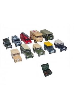 Modellauto Set 10-teilig Land Rover Militärfahrzeuge 1:76-1