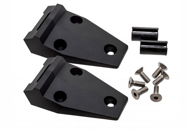 Motorhaubenscharnier Kit Defender aus Aluminium schwarz-1