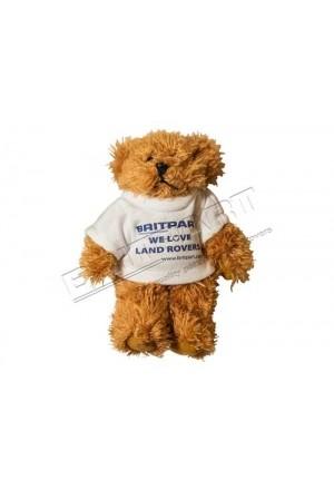 Teddybär in T-Shirt mit Britpart Aufdruck We Love Land Rovers-1