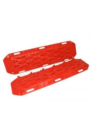 Sandbleche Paar Anfahrhilfe aus rotem Kunststoff 120cm lang-1