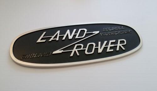 Schild Land Rover Emblem aus Aluminium-1