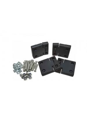 Türscharnier Satz Defender Vordertüren Aluminium schwarz eloxiert-1