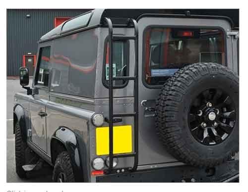 Dachleiter Land Rover Defender Typ Expedition in schwarz-1