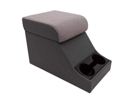 Cubbybox Typ Chubby im XS Stil grauer Bezug mit Getränkehalter-1