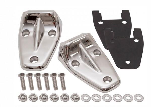 Motorhaubenscharnier Kit Defender aus Edelstahl poliert-1