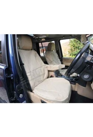 Sitzbezug Set Land Rover Discovery 3 vorn sandfarbend-1
