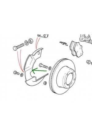 Spritzblech Bremse rechts Land Rover Defender bis KA-1