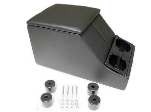 Cubbybox schwarz mit Getränkehalter und Füßen-1