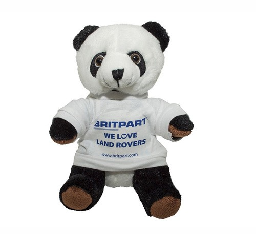 Pandabär mit Britpart We Love Land Rovers T-Shirt-1